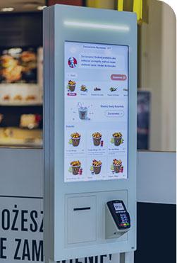 Seelf Order kiosk QSR Fast Food floor