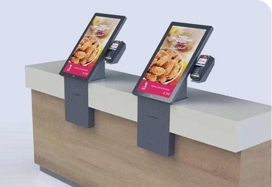 Seelf Order kiosk QSR countertop
